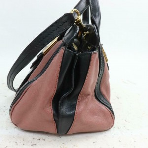 Chloé Duffle 871246bicolor Boston with Strap 87 Pink Leather Shoulder Bag