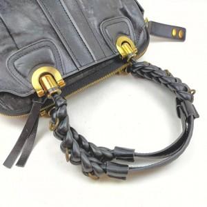 Chloe Black Leather Heloise Satchel Bag 862658