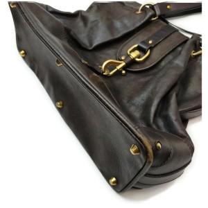 Chloé Dark Brown Leather Kerala Shoulder Bag 862271
