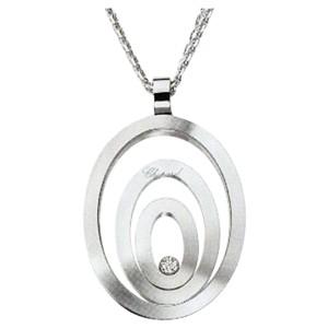 Chopard 18K White Gold Happy Spirit Diamond 795877 Necklace