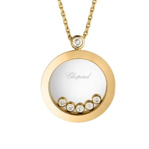 2eb887a31d438 Chopard 18K Yellow Gold Happy Diamonds Necklace | Chopard | Buy at TrueFacet