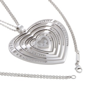 Chopard happy diamonds 18k white gold diamonds large heart pendant chopard happy diamonds 18k white gold diamonds large heart pendant necklace mozeypictures Gallery