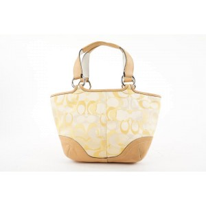 Coach Yellow Monogram Logo Small Soho Tote Bag 385coa226