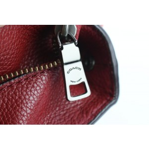 Coach Turnlock Chain Tote 10coe0108 Red Leather Shoulder Bag