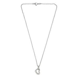 Asprey Silver Heart Necklace