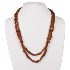 Double Strand Baltic Amber Chip Bead Necklace