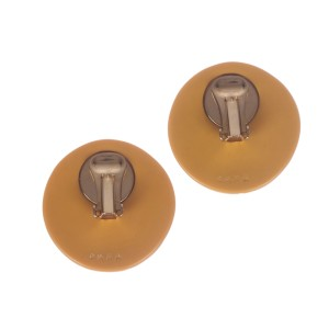Large Carved Butterscotch Bakelite Earrings