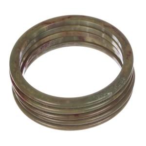 Green Swirl Bakelite Sliders Bangle Bracelet Set
