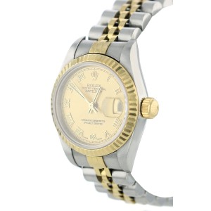 Rolex Datejust Steel Yellow Gold Champagne Roman Dial Ladies Watch