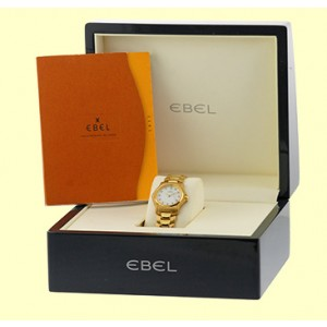 Ebel 18K Yellow Gold Diamond, Mother Of Pearl Bracelet