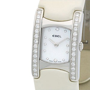 "Ebel Stainless Steel Diamond ""Beluga Manchette"" Womens Watch"
