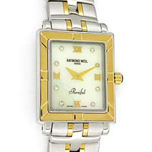 "Raymond Weil ""Parsifal"" Stainless Steel & 18K Yellow Gold Womens Watch"