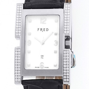 "Fred Stainless Steel Diamond ""Montrй 36"" Watch"