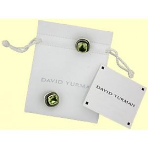 "David Yurman Sterling Silver & 14K Yellow Gold Peridot ""Albion"" Earrings"