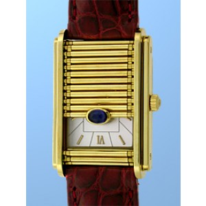 "DeLaneau ""Golden Dream"" 18K Yellow Gold Strap Watch"