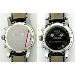 "Girard-Perregaux ""Pour Ferrari 330/P4"" Chronograph 18K White Gold Mens Watch"
