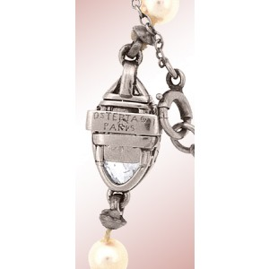 Ostertag Paris Platinum 14K White Gold Natural Pearl & Diamond Necklace