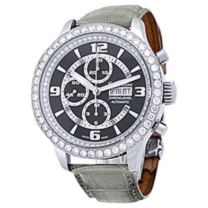 "Ernst Benz ""Chrono-Jewel"" Chronograph Stainless Steel Mens Strap Watch"