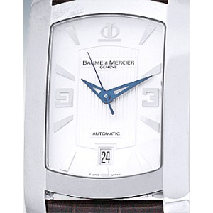 "Baume & Mercier ""Hampton Milleis XL"" Stainless Steel Strap Mens Watch"