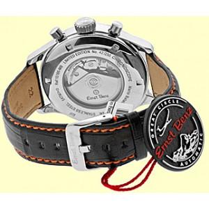 """Ernst Benz """"Mario Batali Chronoscope"""" Stainless Steel Mens Strap Watch 47mm"""