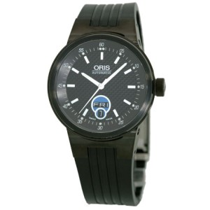 "Oris ""Williams F1 Team Day-Date"" Stainless Steel/ Black PVD Watch"