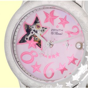 "Zenith ""Sea Star Open Chronograph"" Stainless Steel Strapwatch"
