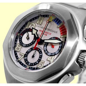 "Girard Perregaux ""Laureato BMW Oracle Racing USA 98"" Stainless Steel Chronograph Watch"