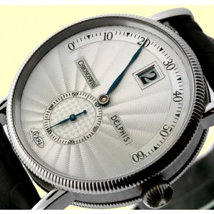 Chronoswiss Delphis Jump Hour 18K White Gold Mens Strap Watch