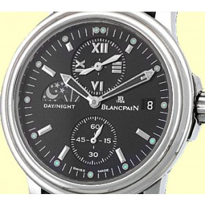 BlancPain Leman Timezone Dual Time Stainless Steel Mens Watch