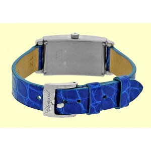 "Chopard ""Rectangular Classic"" 18K White Gold Diamond Strap Watch"