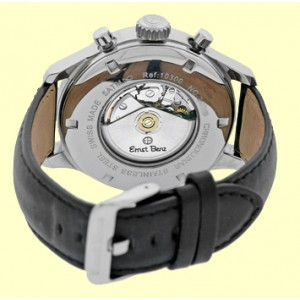 "Ernst Benz ""Chronolunar"" Automatic Stainless Steel Mens Strap Watch 47mm"