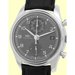 "IWC ""Portuguese"" Classic Chronograph Stainless Steel Mens Watch"