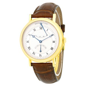 "Breguet ""Classique Retrograde Seconds"" 18K Yellow Gold Mens Strap Watch"