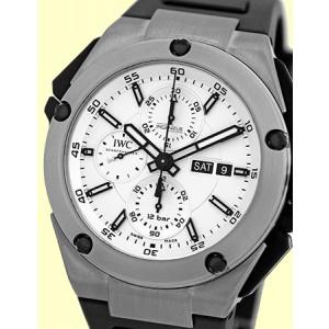 "IWC ""Ingenieur Double Chronograph"" Titanium Automatic Mens Strap Watch"