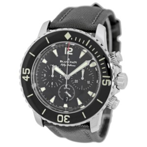 Blancpain Antimagnetic Fifty Fathoms Flyback Chronograph Stainless Steel Mens Strap Watch