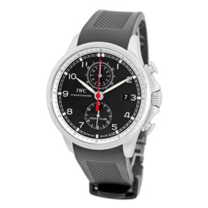 """IWC """"Portuguese Yacht Club"""" Stainless Steel Chronograph Strapwatch Mens Watch"""