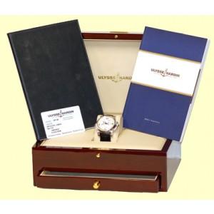 "Ulysse Nardin ""GMT Perpetual Calendar"" Platinum Strap Watch"
