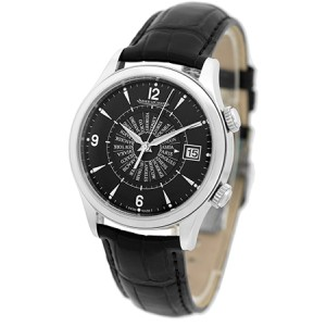 "Jaeger LeCoultre ""Master Control Memovox International"" Stainless Steel Mens Strap Watch"