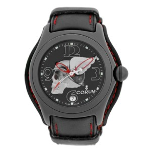 Corum Bubble Night Flyer Black PVD Stainless Steel Automatic Mens Strap Watch