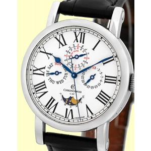 Chronoswiss Perpetual Calendar Moonphase Stainless Steel Strap Mens Watch