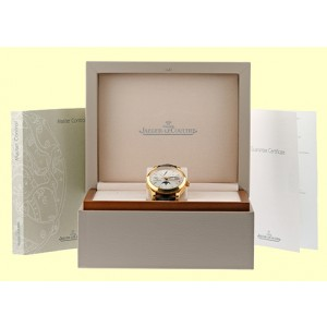 Jaeger-LeCoultre Master Calendar 18K Rose Gold Strap Mens Watch