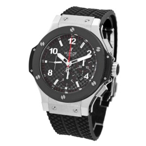 "Hublot ""Big Bang"" Stainless Steel & Ceramic Chronograph Watch"