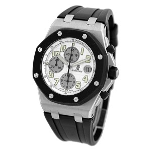 "Audemars Piguet ""Royal Oak Offshore Rubberclad"" Chronograph Stainless Steel Strap Watch"