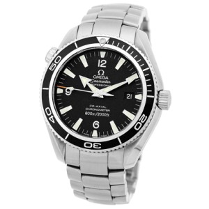 "Omega Seamaster ""Planet Ocean"" Stainless Steel Automatic Black Dial 42mm Mens Watch"