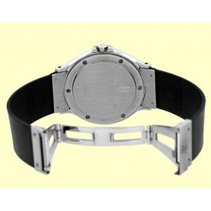 "Hublot ""Classique MDM"" Stainless Steel & Rubber Quartz 36mm Mens Watch"