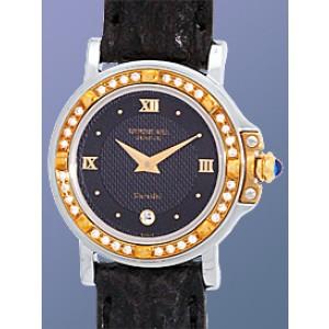 Raymond Weil Diamond Parsifal Stainless Steel & 18K Yellow Gold Strap Womens Watch
