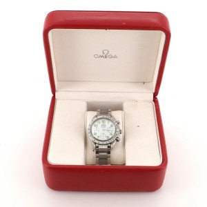 Omega Speedmaster Reduced Chronograph Automatic Watch Stainless Steel with Mother of Pearl 39
