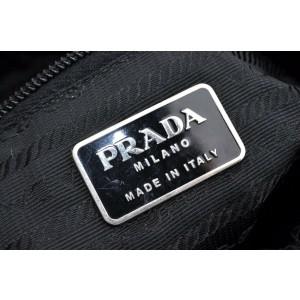 PRADA Nylon Shoulder Hand Bag Black
