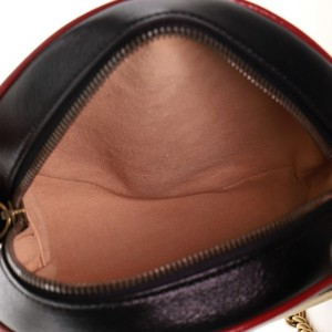 Gucci GG Marmont Round Shoulder Bag Diagonal Quilted Leather Mini