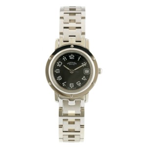 HERMES Stainless Steel Clipper Watch